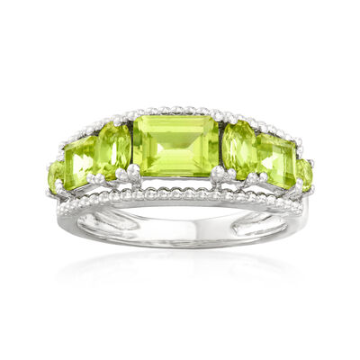 2.30 ct. t.w. Peridot Ring in Sterling Silver