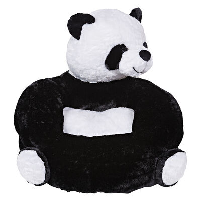 Children's Plush Panda Character Chair, , default