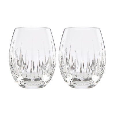 "Reed & Barton ""Soho"" Set of 2 Stemless Wine Glasses, , default"