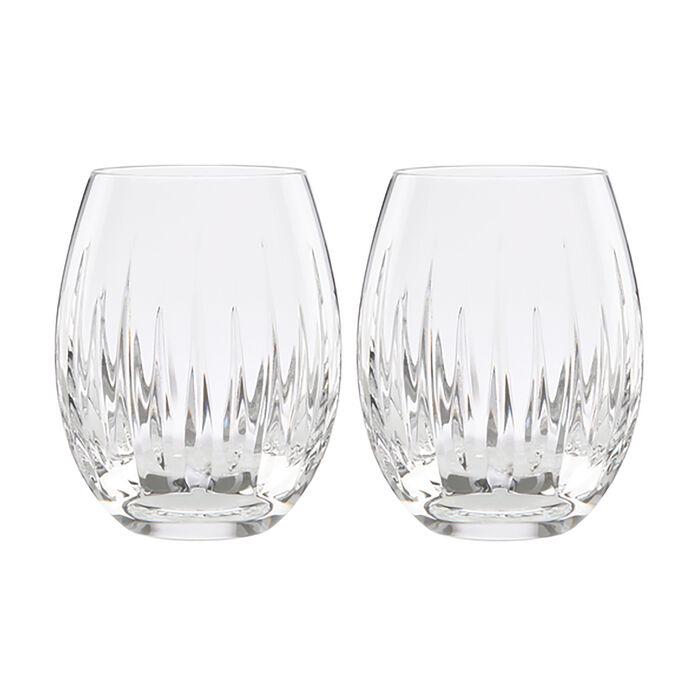 "Reed & Barton ""Soho"" Set of 2 Stemless Wine Glasses, , default"