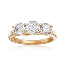 2.00 ct. t.w. Diamond Three-Stone Ring in 14kt Yellow Gold, , default