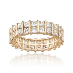 4.00 ct. t.w. Princess-Cut Eternity Band in 14kt Yellow Gold, , default