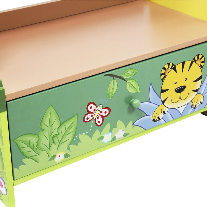 Child's Sunny Safari Wooden Bookshelf