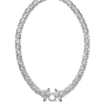 Black Onyx Byzantine Necklace in Sterling Silver