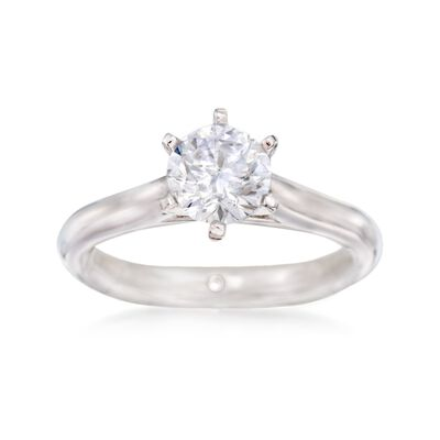 Gabriel Designs 14kt White Gold Six-Prong Engagement Ring Setting