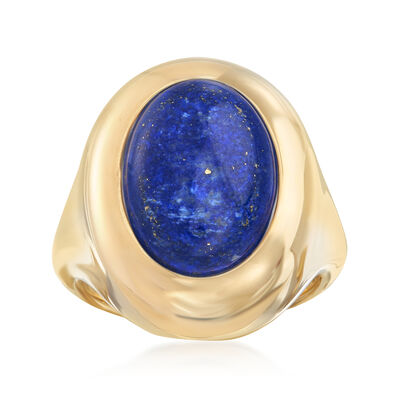 Andiamo 14kt Yellow Gold and Lapis Ring, , default