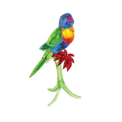 "Swarovski Crystal ""Rainbow Lorikeet"" Multicolored Crystal Figurine, , default"