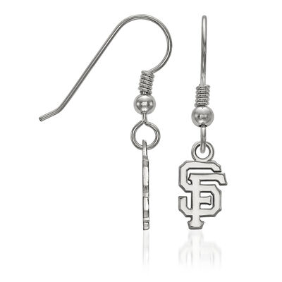 Sterling Silver MLB San Francisco Giants Extra Small Dangle Earrings, , default