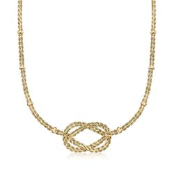 14kt Yellow Gold Double-Strand Knot Necklace, , default