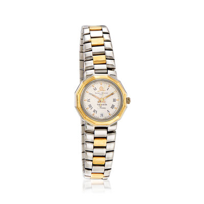 C. 1980 Vintage Baume & Mercier Women's 25mm Stainless Steel and 14kt Yellow Gold Watch, , default