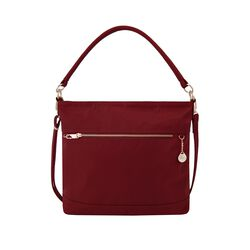 "Travelon ""Anti-Theft Tailored"" Garnet-Red Nylon Twill Tote, , default"