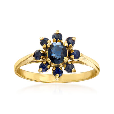 C. 1980 Vintage .50 ct. t.w. Sapphire Ring in 14kt Yellow Gold
