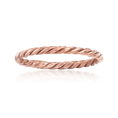 18kt Rose Gold Rope Ring