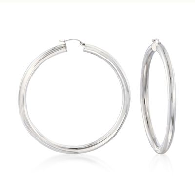 5mm Sterling Silver Hoop Earrings, , default