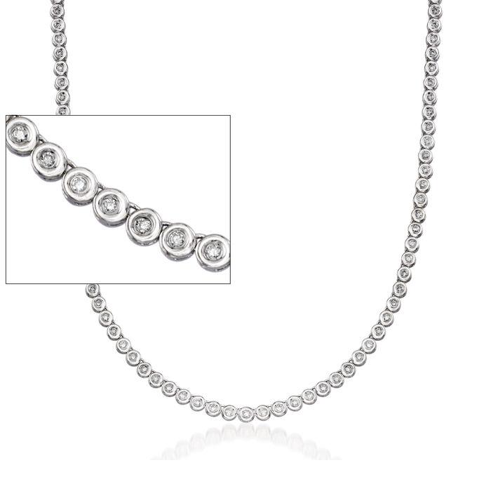 C. 1990 Vintage 2.25 ct. t.w. Diamond Tennis Necklace in 14kt White Gold