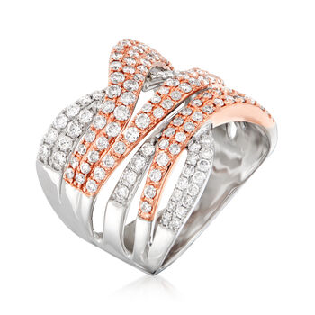 1.50 ct. t.w. Diamond Highway Ring in 14kt Two-Tone Gold, , default
