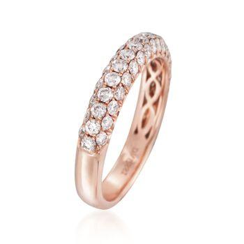 Henri Daussi 1.00 ct. t.w. Pink Diamond Band in 18kt Rose Gold, , default