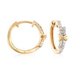 """.25 ct. t.w. Diamond Hoop Earrings in 14kt Yellow Gold. 1/2""""., , default"""