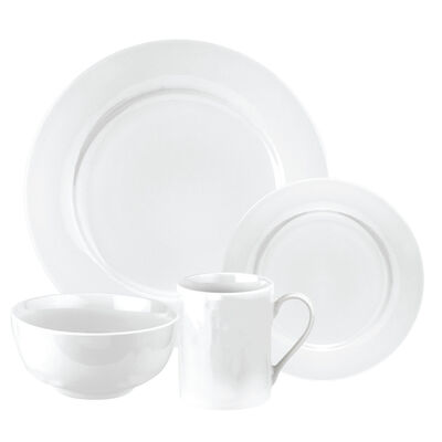 "Spode ""Pearl White"" 16-pc. Service for 4 Dinnerware Set"