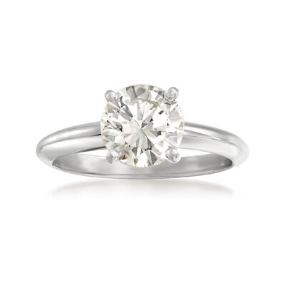 1.51 Carat Certified Diamond Ring in 14kt White Gold, , default