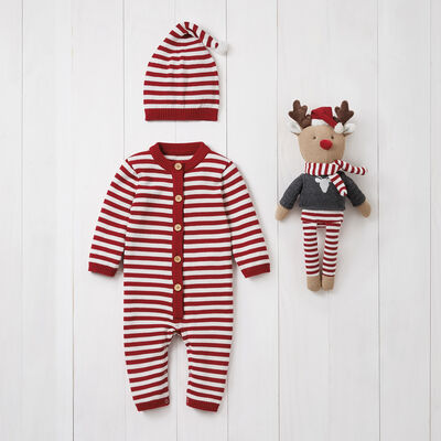 Elegant Baby Holiday Jumpsuit 3-pc. Set, , default