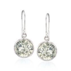 5.00 ct. t.w. Green  Amethyst Drop Earrings in Sterling Silver, , default