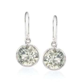 5.00 ct. t.w. Green  Amethyst Drop Earrings in Sterling Silver, , default