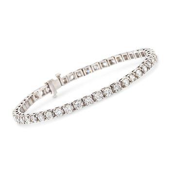 "6.00 ct. t.w. Diamond Tennis Bracelet in 14kt White Gold. 7"", , default"