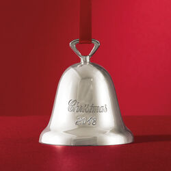 Reed & Barton 2018 Annual Silver Plate Bell Ornament - 51st Edition, , default