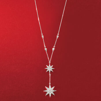 .50 ct. t.w. Diamond Double Star Y-Necklace in Sterling Silver, , default