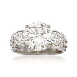 Majestic Collection 5.35 ct. t.w. Diamond Ring in 18kt White Gold, , default