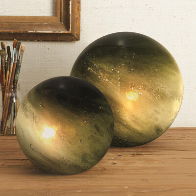Set of Two Green Galaxy Table Lamps, , default