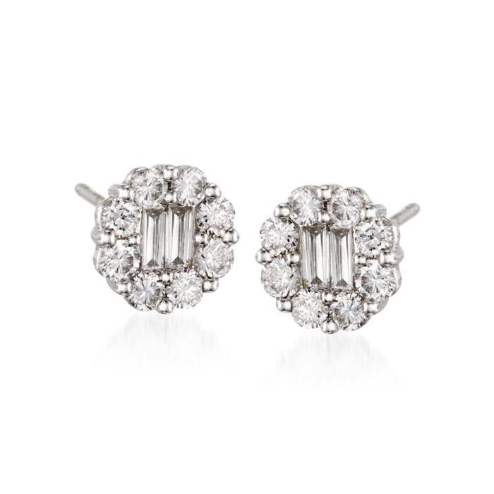 Gregg Ruth .90 ct. t.w. Diamond Stud Earrings in 18kt White Gold