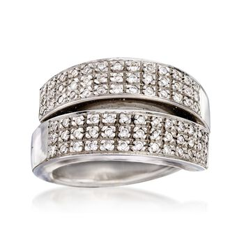 C. 1990 Vintage .65 ct. t.w. Pave Diamond Ring in 18kt White Gold. Size 6, , default