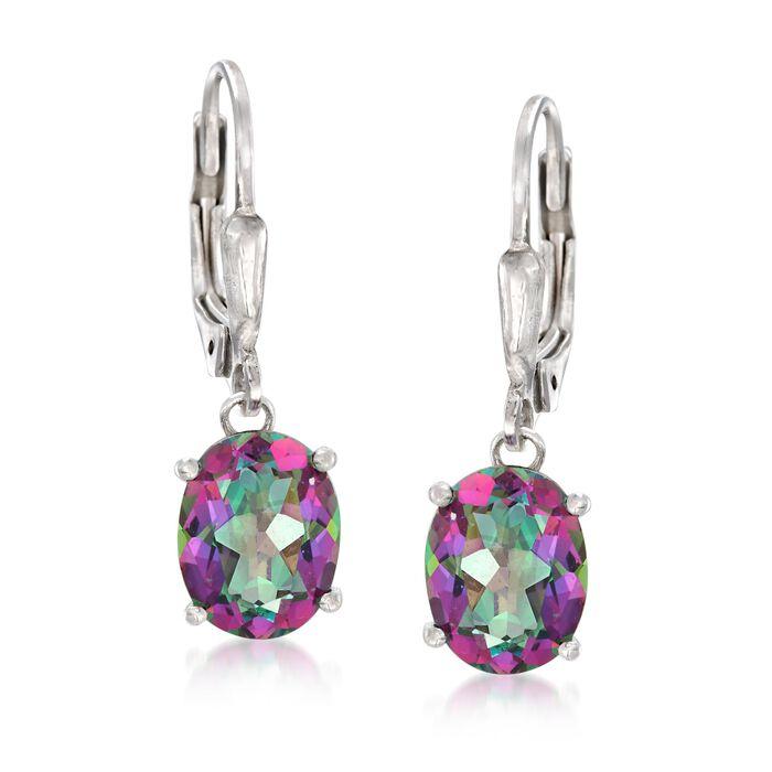 4.50 ct. t.w. Mystic Topaz Drop Earrings in Sterling Silver, , default