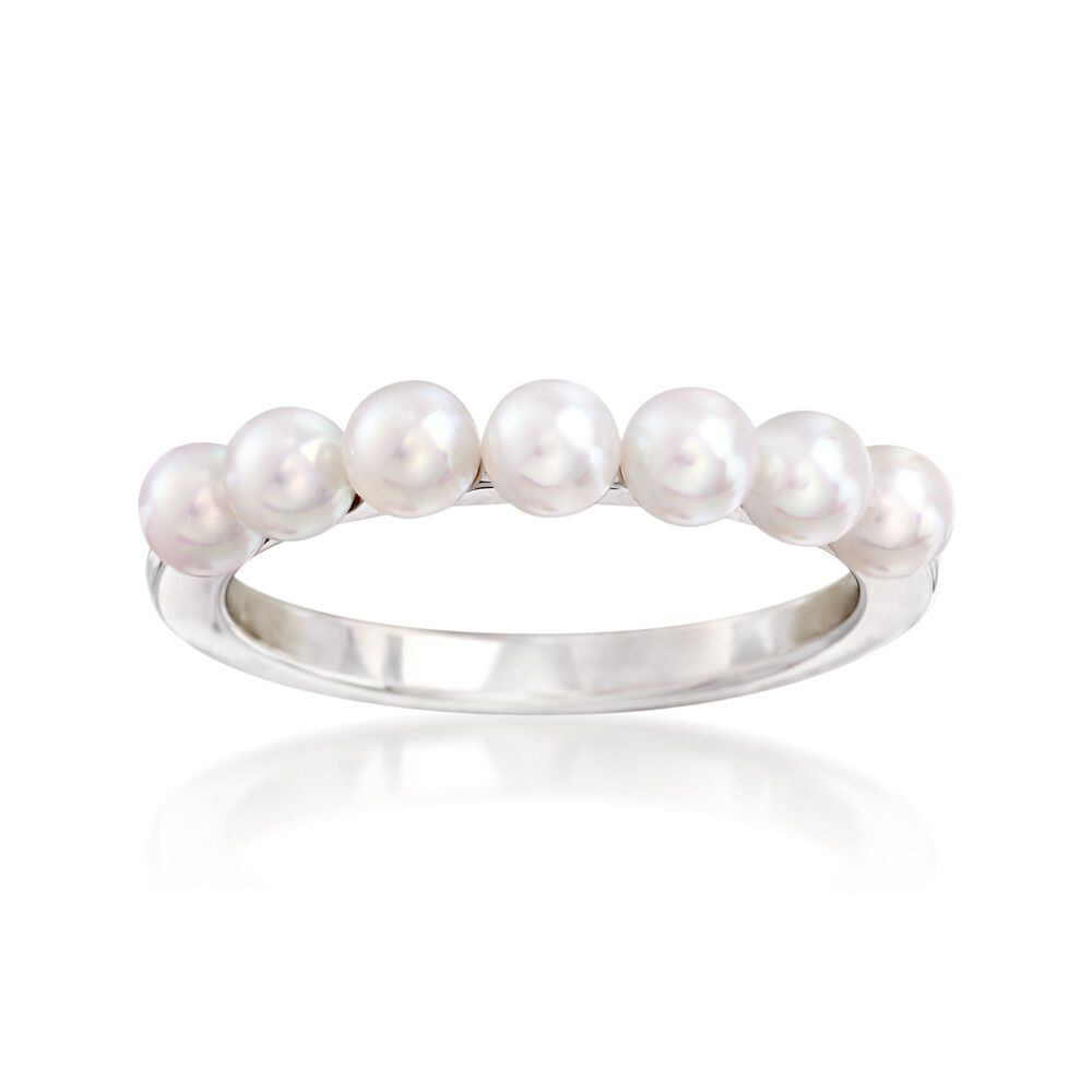 Mikimoto 3.5mm A+ Akoya Pearl Ring in 18kt White Gold | Ross Simons
