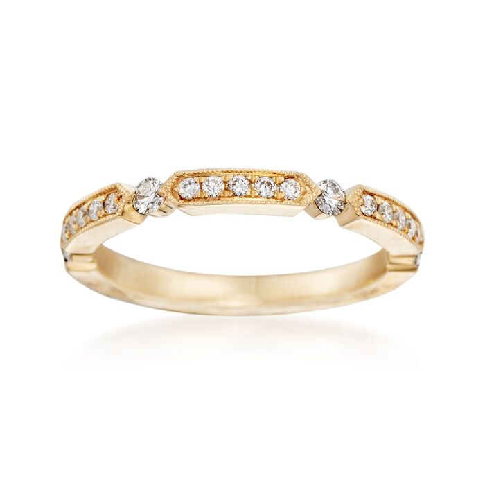 Henri Daussi .25 ct. t.w. Diamond Wedding Ring in 14kt Yellow Gold