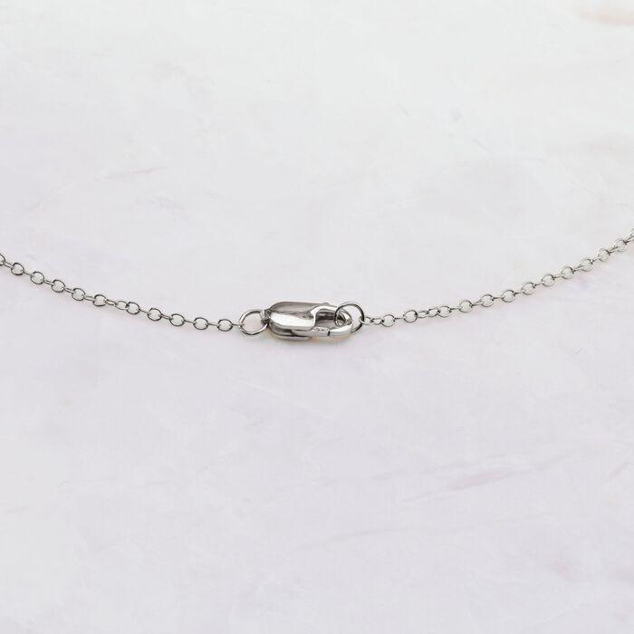 .50 ct. t.w. Bezel-Set Diamond Station Necklace in 14kt White Gold