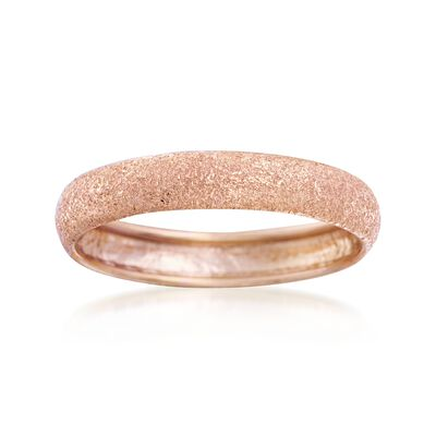 Italian 14kt Rose Gold Textured Ring, , default