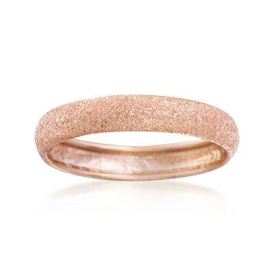Italian 14kt Rose Gold Textured Ring, , default