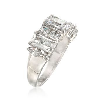 4.10 ct. t.w. Wide CZ Fashion Ring in Sterling Silver, , default
