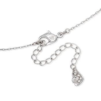 "Swarovski Crystal ""Ginger"" Clear Crystal Pendant Necklace in Silvertone. 15"", , default"