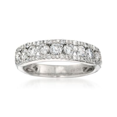 1.23 ct. t.w. Diamond Wedding Ring in 14kt White Gold