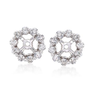 .40 ct. t.w. Diamond Earring Jackets in 14kt White Gold, , default