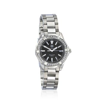 TAG Heuer Aquaracer Women's 35mm .61 ct. t.w. Diamond Watch With Black Mother-Of-Pearl in Stainless Steel, , default
