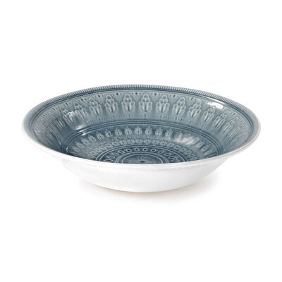 "Euro Ceramica ""Fez"" Gray Serving Bowl, , default"