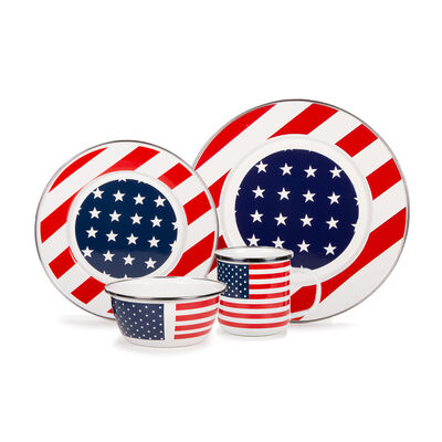 "Golden Rabbit ""Stars and Stripes"" Dinnerware, , default"