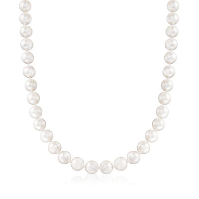 10-11mm Cultured Pearl Necklace with Sterling Silver Magnetic Clasp, , default