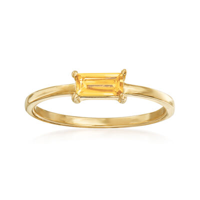 Italian .30 Carat Citrine Ring in 14kt Yellow Gold