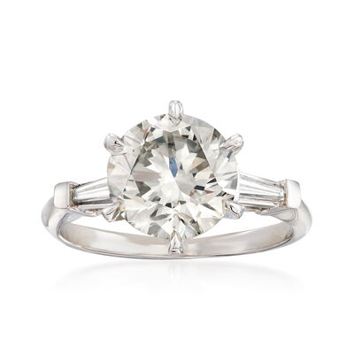 3.42 ct. t.w. Diamond Ring in Platinum